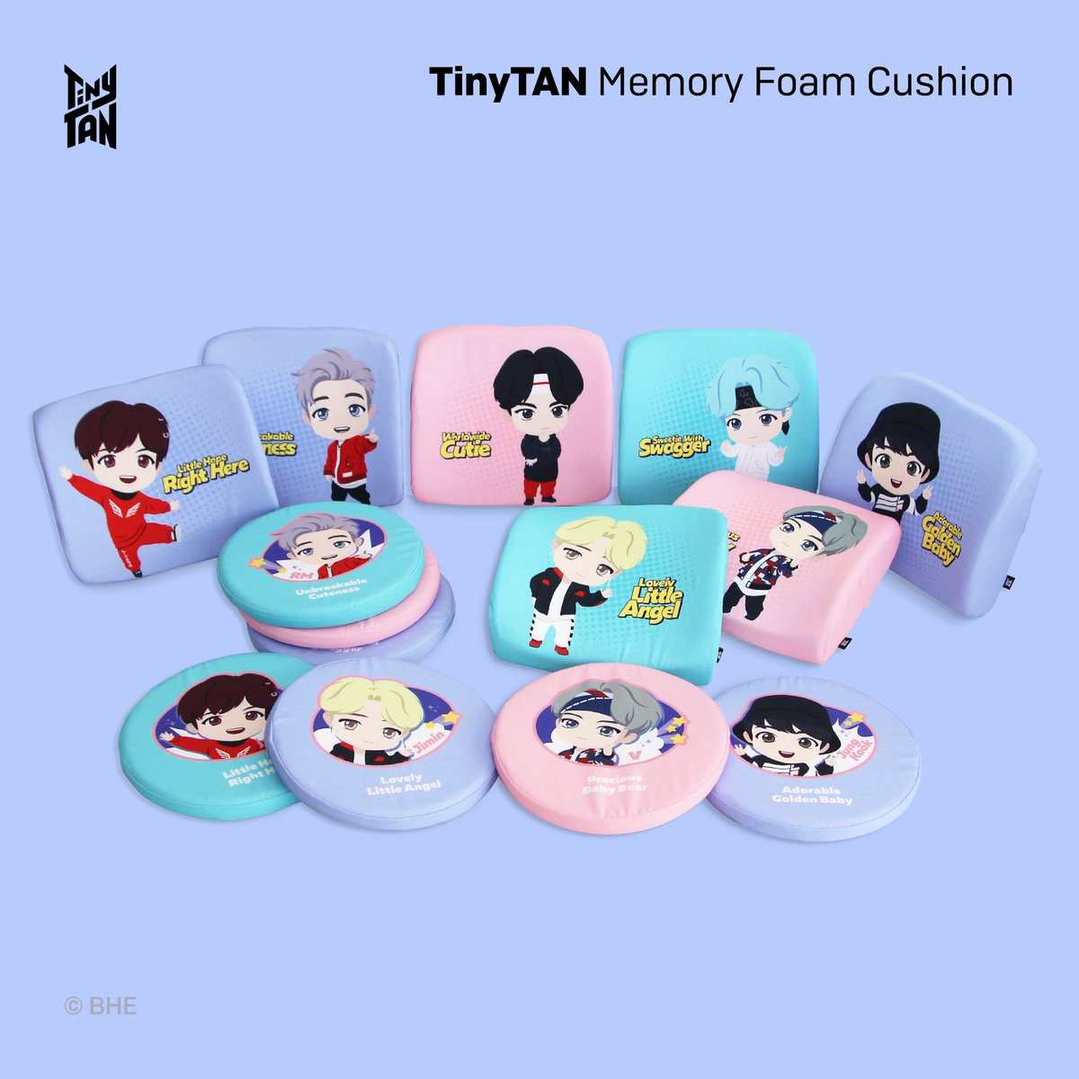 [February 2021] Newly Launched Licensed Products! TinyTAN @NARA_HOME_DECO Memory Foam Cushions available in Korea