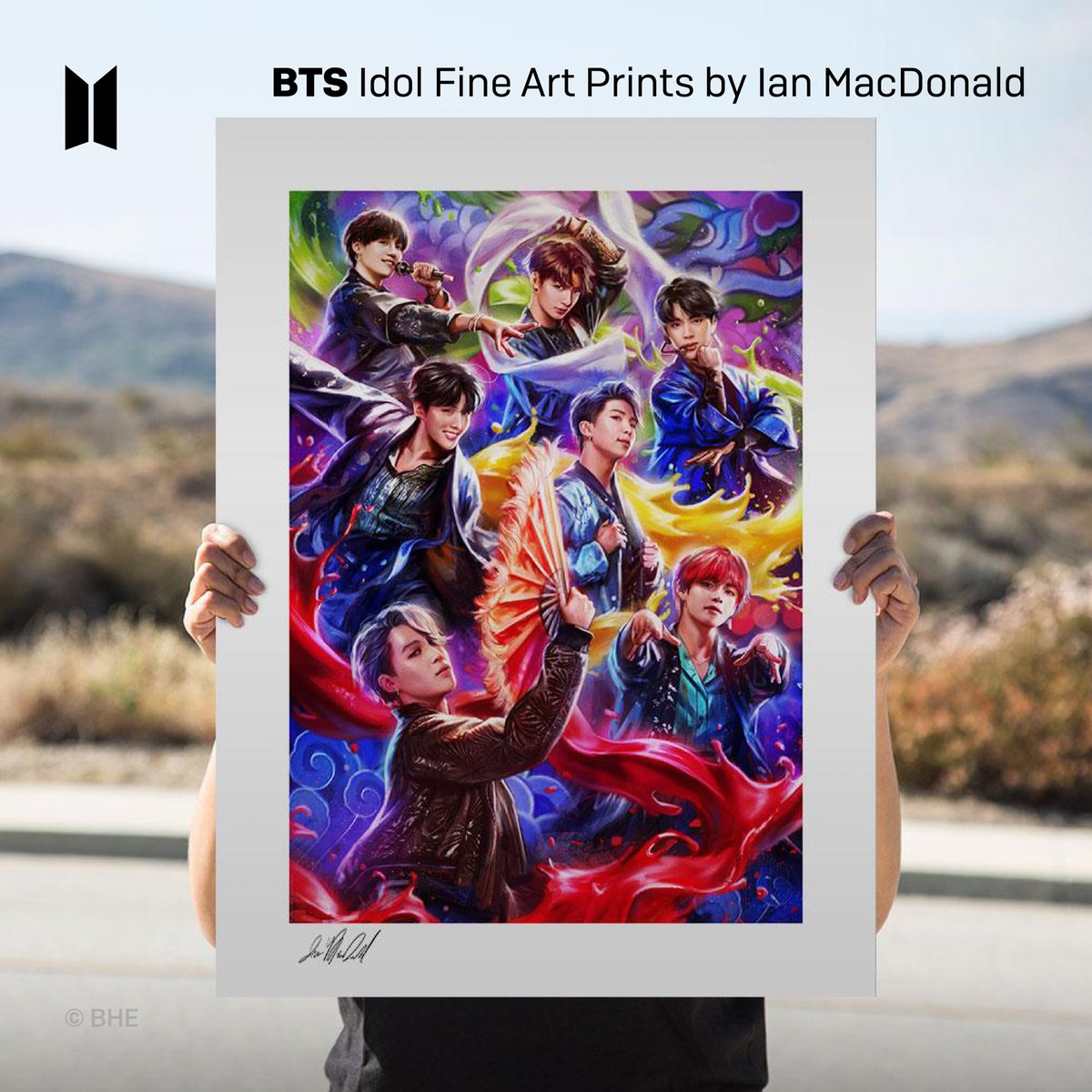 [February 2021] Newly Launched Licensed Products! BTS @collectsideshow Art Prints available worldwide