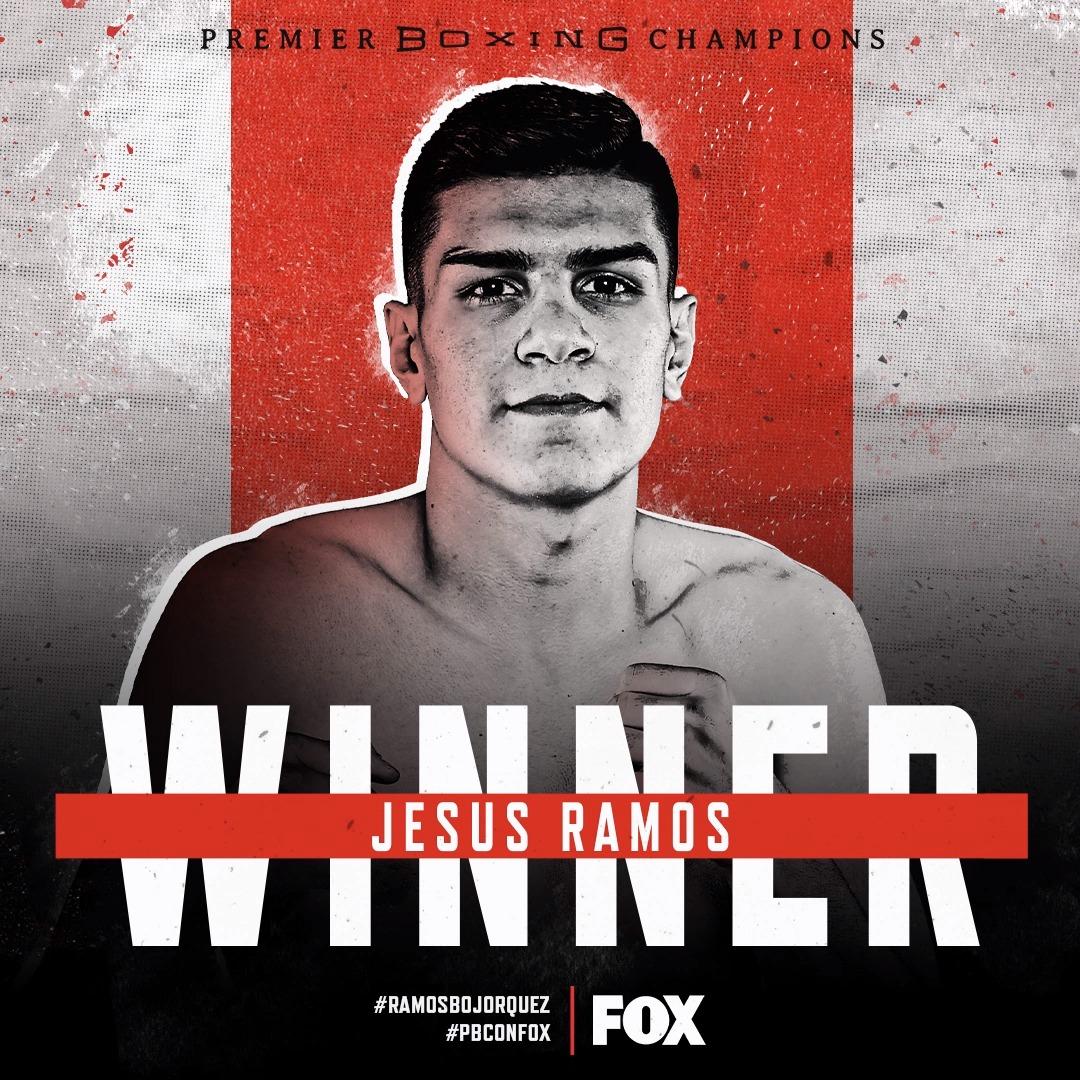 .@ramos_jesus9 maintains an unblemished record (15-0, 14 KO's), defeating  Jesus Emilio Bojorquez by way of RD2 KO. #RamosBojorquez #PBConFOX