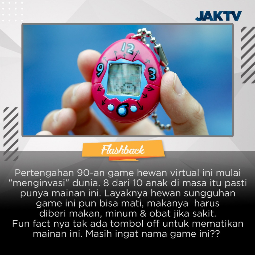 Ada beberapa level / fase pertumbuhan hewan virtual ini, mulai dari telur, anak-anak, remaja hingga dewasa. Masih ingat fase mana yang terakhir kalian mainkan??? #flashback #generasi90an  #tamagotchi #jakinfo #japan  #game  #bandai    #jaktv #jakarta #indonesia