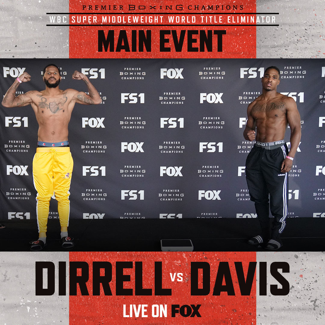 MAIN EVENT: Former Two-Time World Super Middleweight Champion @AnthonyDirrell takes on @KyShutItDown in a WBC Super Middleweight World Title Eliminator! #DirrellDavis #PBConFOX