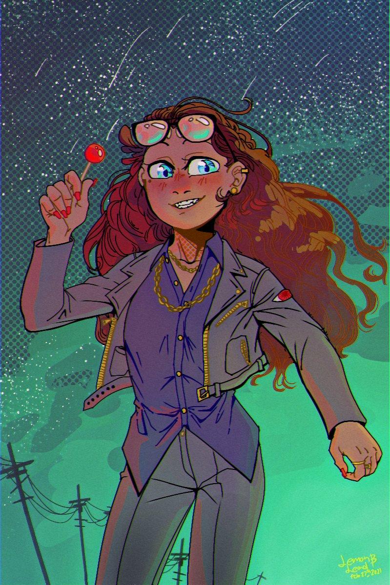 #ArtistOnTwitter #FANART #OC #originalcharacter #originalart #cute #anime #animegirl #fashion #comic #ComicArt #cuteart #jacket #sky