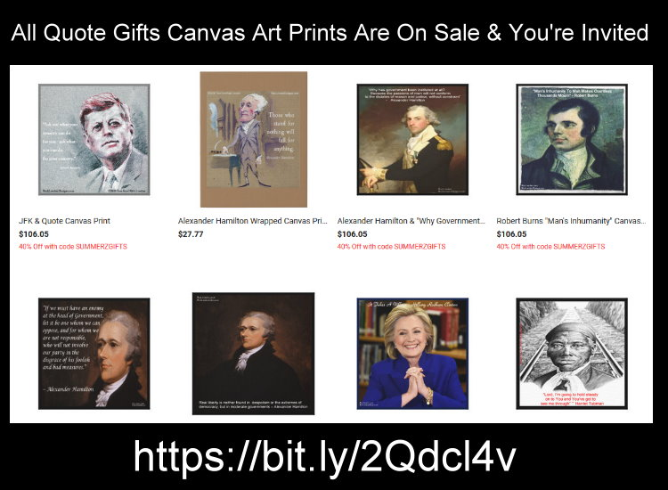 #Home needing #decor?  There's no better way than with #canvasprints  from @QuoteGifts featured in  #USAToday #famous #history #quote #art #prints #canvas #homedesign #homedecor #deals  #discount