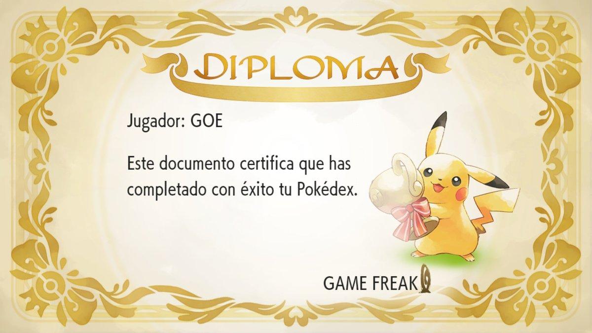 25 anos de Pokémon, meu diploma de mestre pokémon, em pokémon lets go pikachu! #PokemonDay