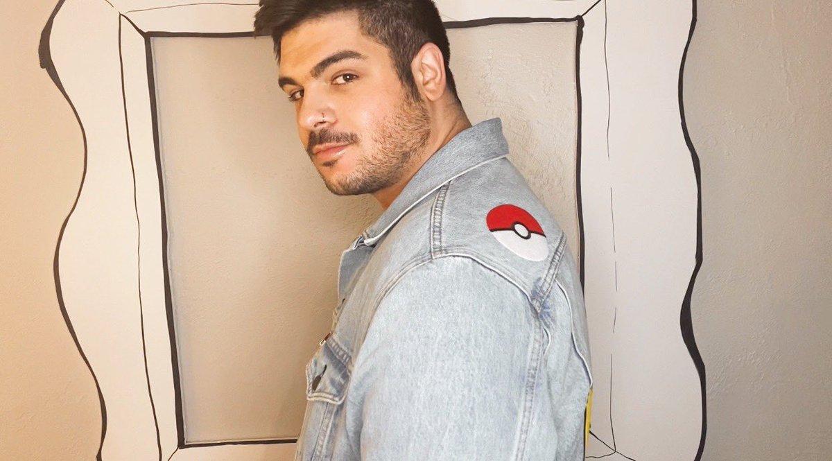 using #pokemonday to show off my pikachu jean jacket!!!