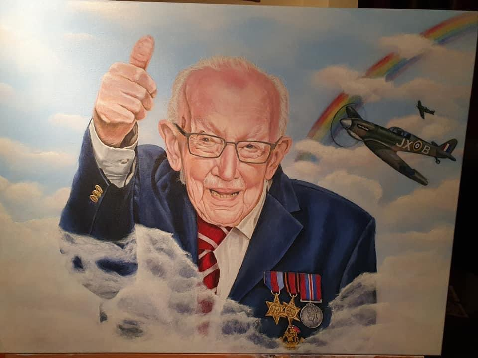 Fantastic artwork created by my friend Karen. #captainsirtommoore #CaptainTomMoore #TomMoore #captainsirtommoore