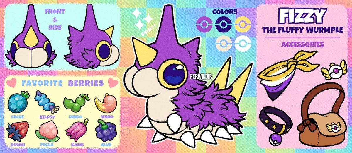"Happy Pokémon Day! 💜  Here is my Pokésona ""Fizzy"" who means the world to me 🥺💜  Art by: Me, @HJeojeo, & @extyrannomon  #PokemonDay #Pokemon25"
