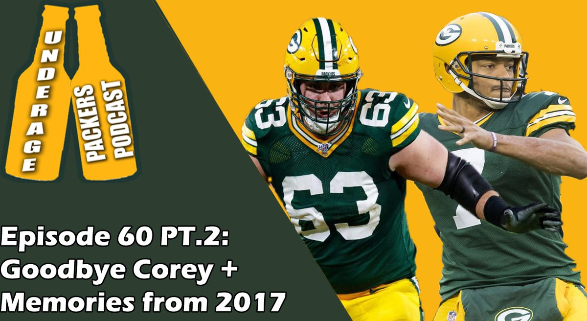 Goodbye Corey + Memories from 2017 - Ep.60 PT.2 Joey and Big B say most likely their final goodbyes to Corey Linsley, and reflect on the memorable 2017 season. Listen now on Youtube, Spotify, and Apple Podcasts #Packers #GoPackGo