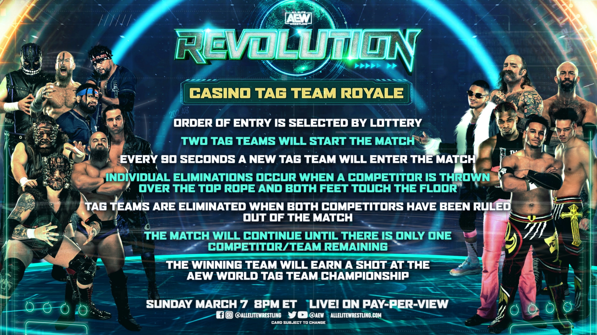 AEW Announces Rules For Casino Tag Team Royale Match