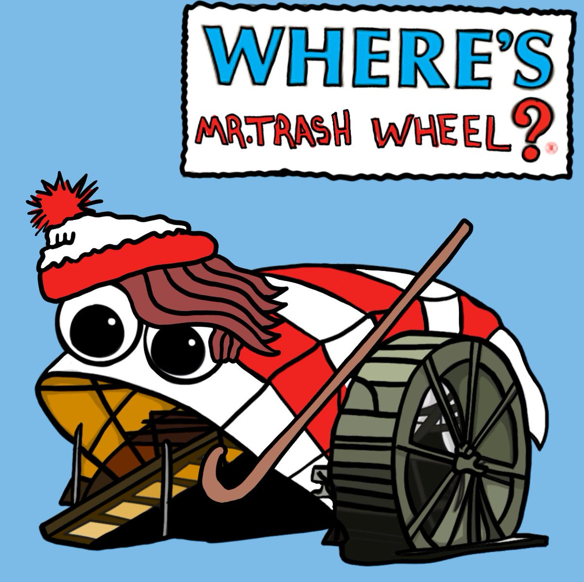 Where's Mr. Trash Wheel? You guys gave me some great cartoon costume ideas, this weekend's winner is (drum roll) Where's Waldo?