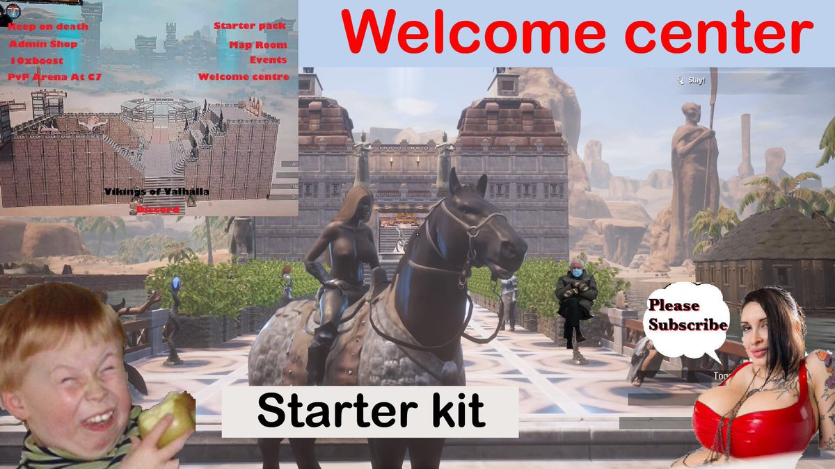 Conan exiles Vikings of Valhalla server, PvP, welcome center, starter kit, nearly naked     #conanexiles #funcom #openworld @funcom #Berniememe