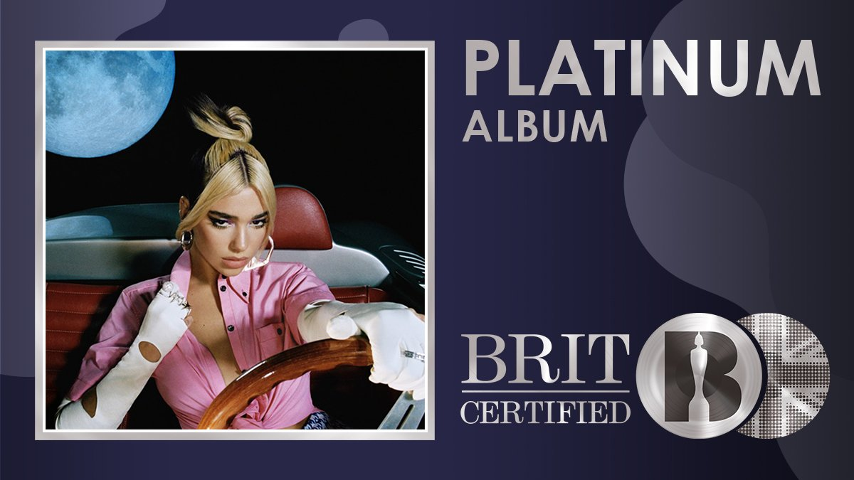 👑 'Future Nostalgia', the incredible 2020 album from @DUALIPA , is now #BRITcertified Platinum! 💿 #DuaLipa #FutureNostalgia