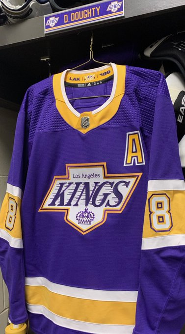 These Kings jerseys. 😍💜💛  (📷: @LAKings)