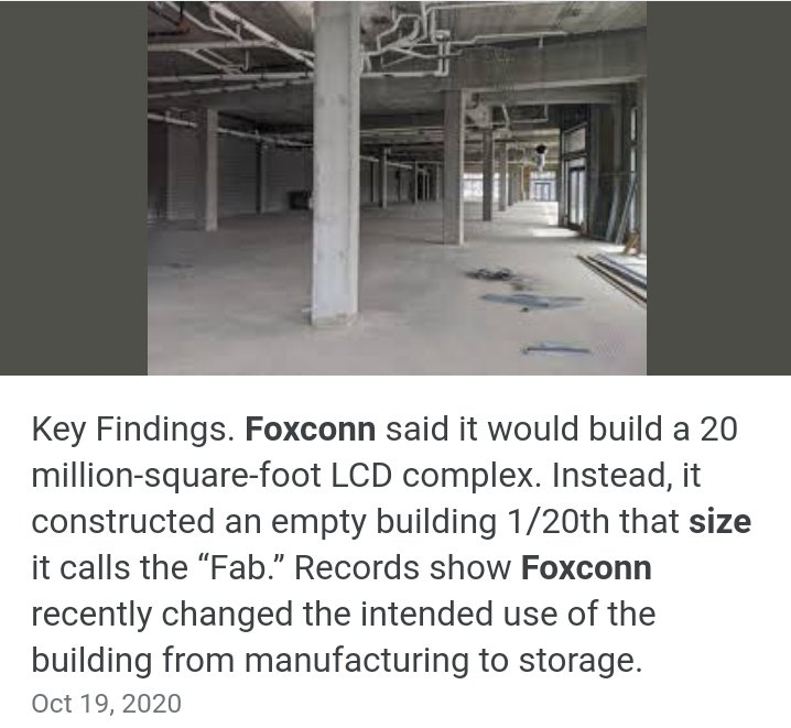 $FSR Foxconn said it would build a 20 million-square-foot LCD complex.  It would be perfect for Battery and Fisker Cars.   $AAPL - won't be surprised that Foxconn , Fisker, and Apple already have some type of contractual agreement.  Battery + Cars $150 easy  $TSLA https://t.co/SZw2sxib8S