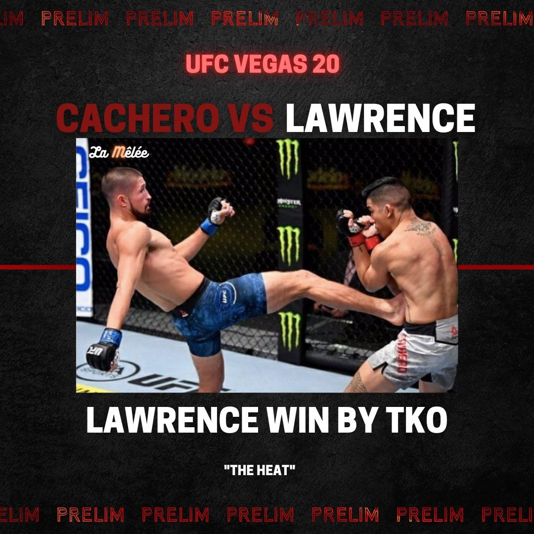 Belle performance de Ronnie Lawrence qui gagne par TKO ! ⚔️ #UFCVegas20