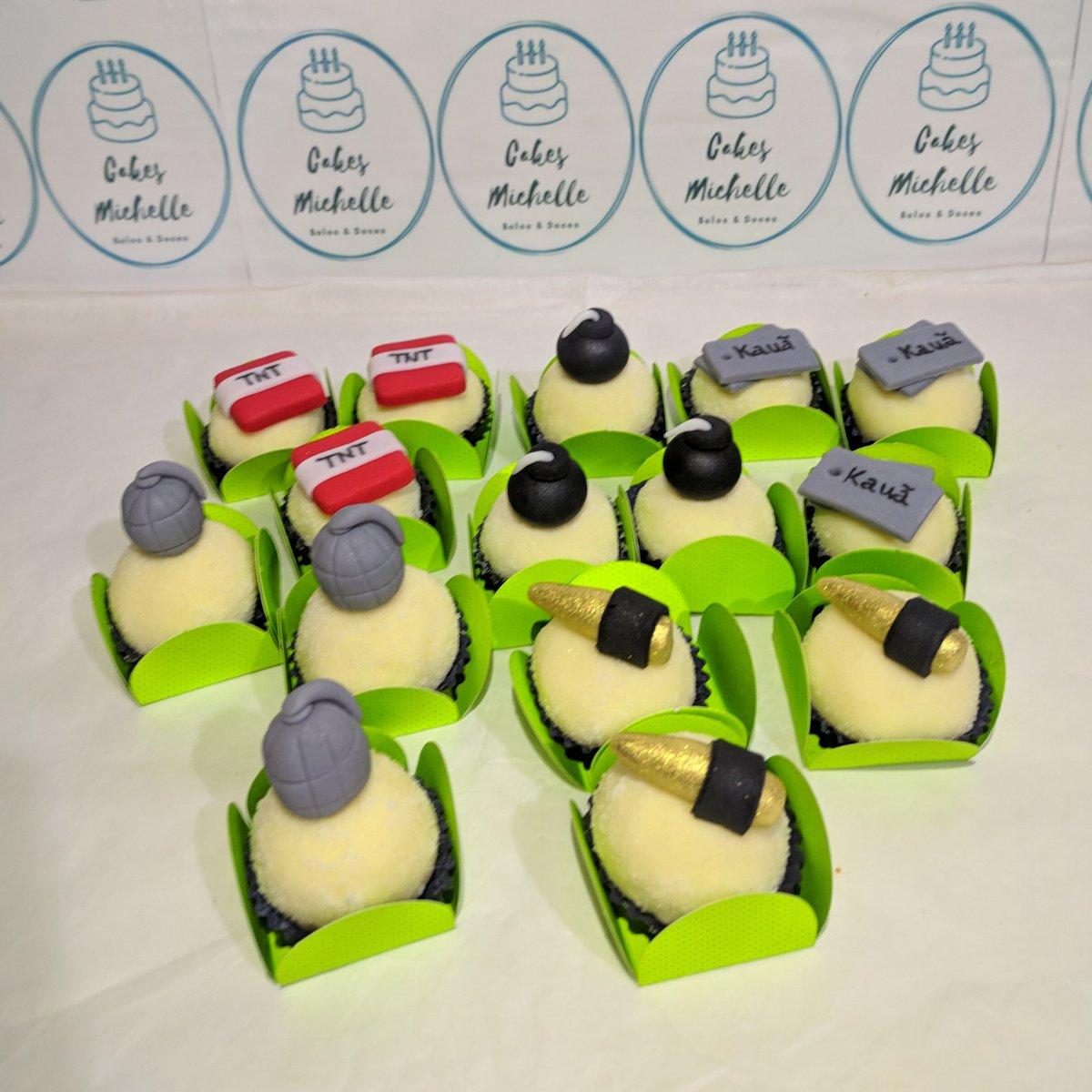 Doces personalizados com tema Free Fire 🎂🍰 #cakes #cakesmichelle #pastaamericana  #trufasdecoradas #docinhospersonalizados #festatematica #docesdecorados #sweet #loveconfeitaria #festafreefire