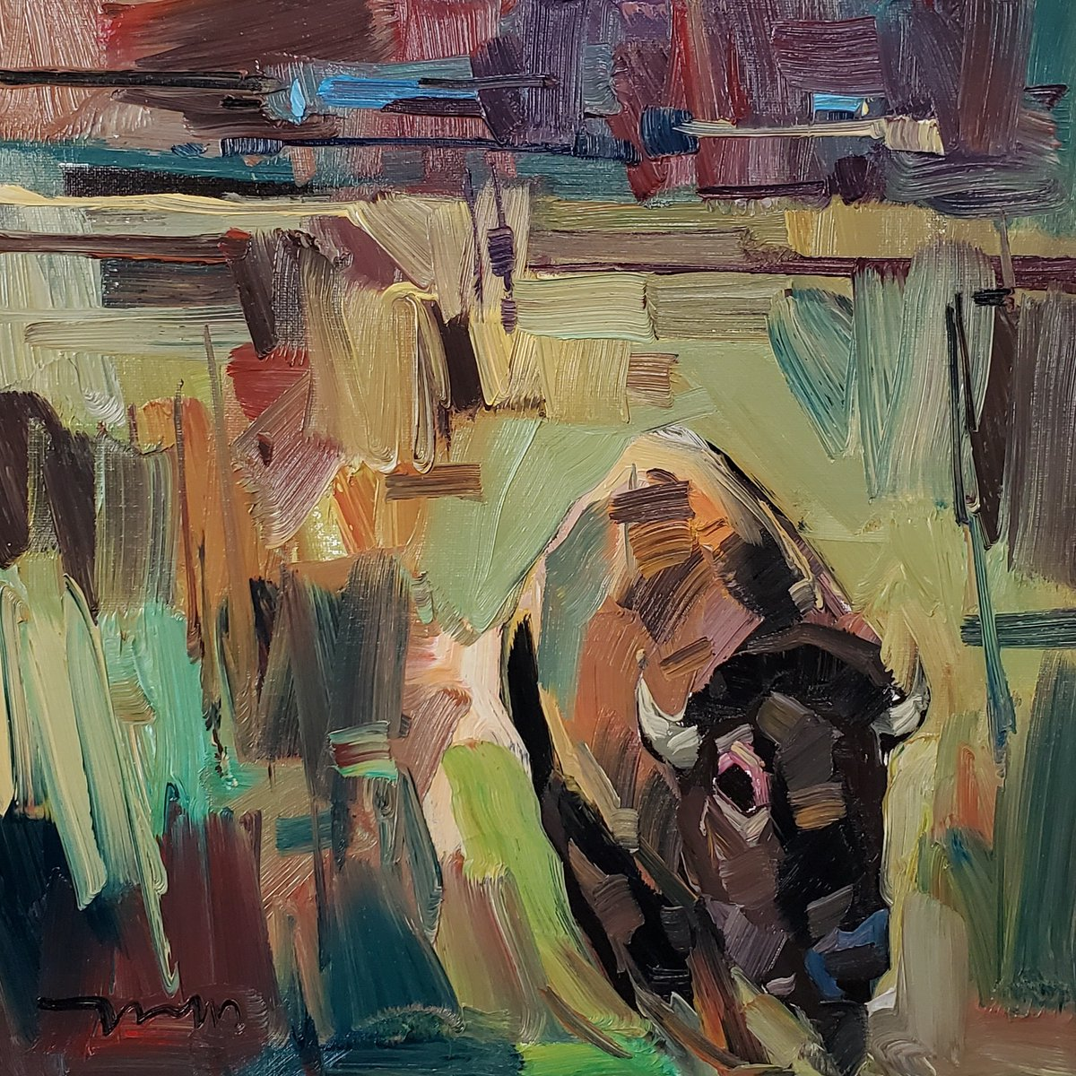 Love this Buffalo! I love the simplicity of this piece! Hope you enjoy it! 🙂 .  #buffalo #art #buffalopainting #painter #painting #expressionism #modernart #artcollector #artlover #artwork #contemporaryartist #paintings #oilpainting
