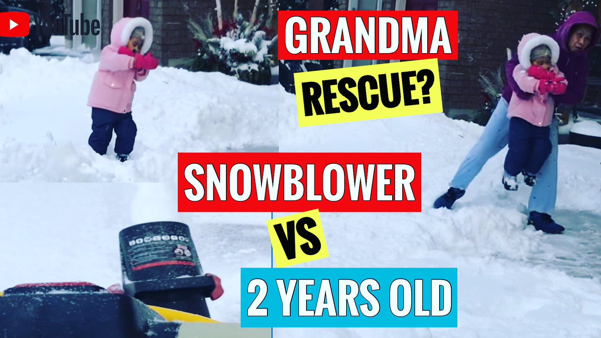 WHAT HAPPENED WHEN RINA MEET SNOW MACHINE FOR THE 1ST TIME? LOL  #snowthrower #snowmachinevskid #snowthrowervskid #snowblowervskid #rina #sabrina