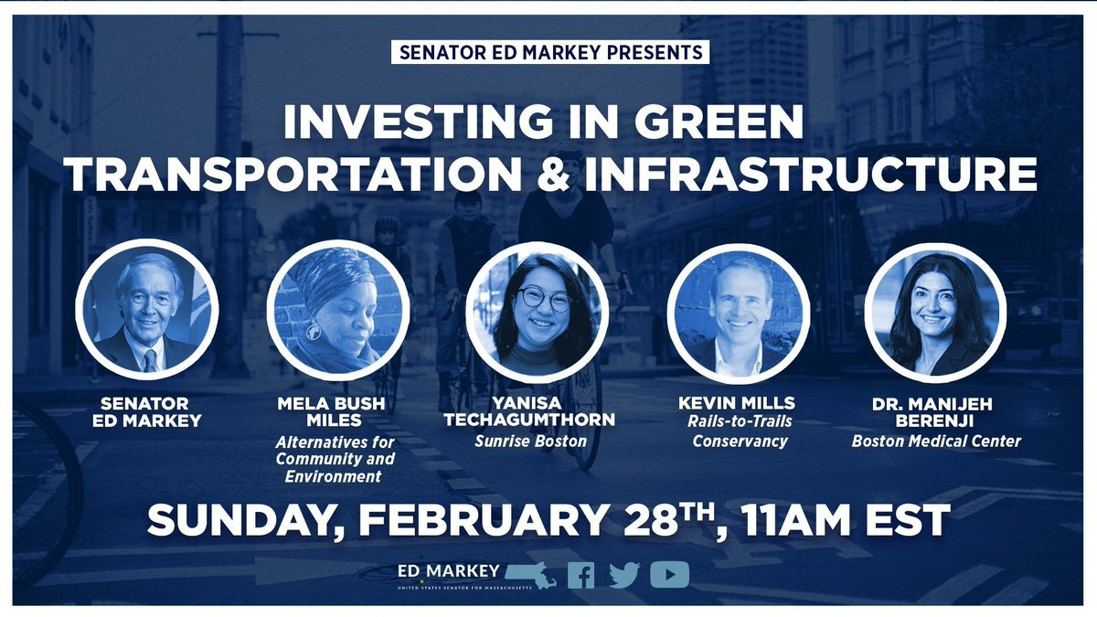 Its infrastructure week and Ive introduced four bold and aggressive bills to cut emissions and make our streets safer and more accessible to all. Join us live tomorrow and hear about our vision for a green, resilient, and equitable transportation system.