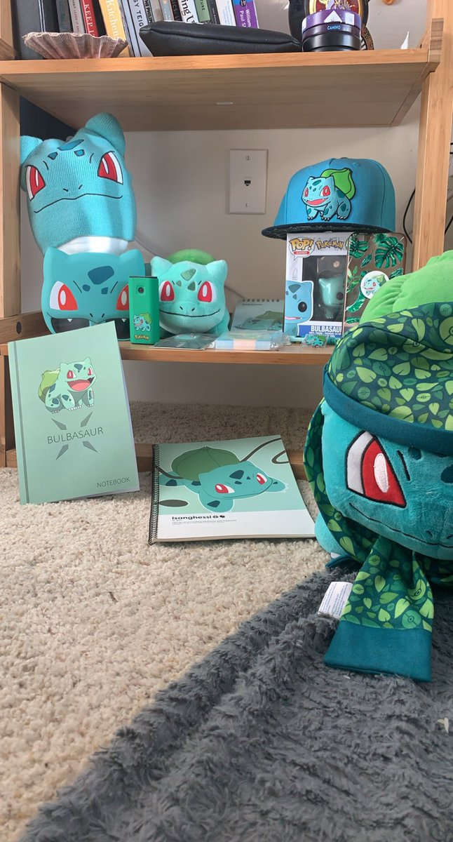 Happy Pokémon Day!!!  Here's a small part of my Bulbasaur collection!   One day I'm going to cosplay him and you hoes gonna wish he was on your team! #PokemonDay