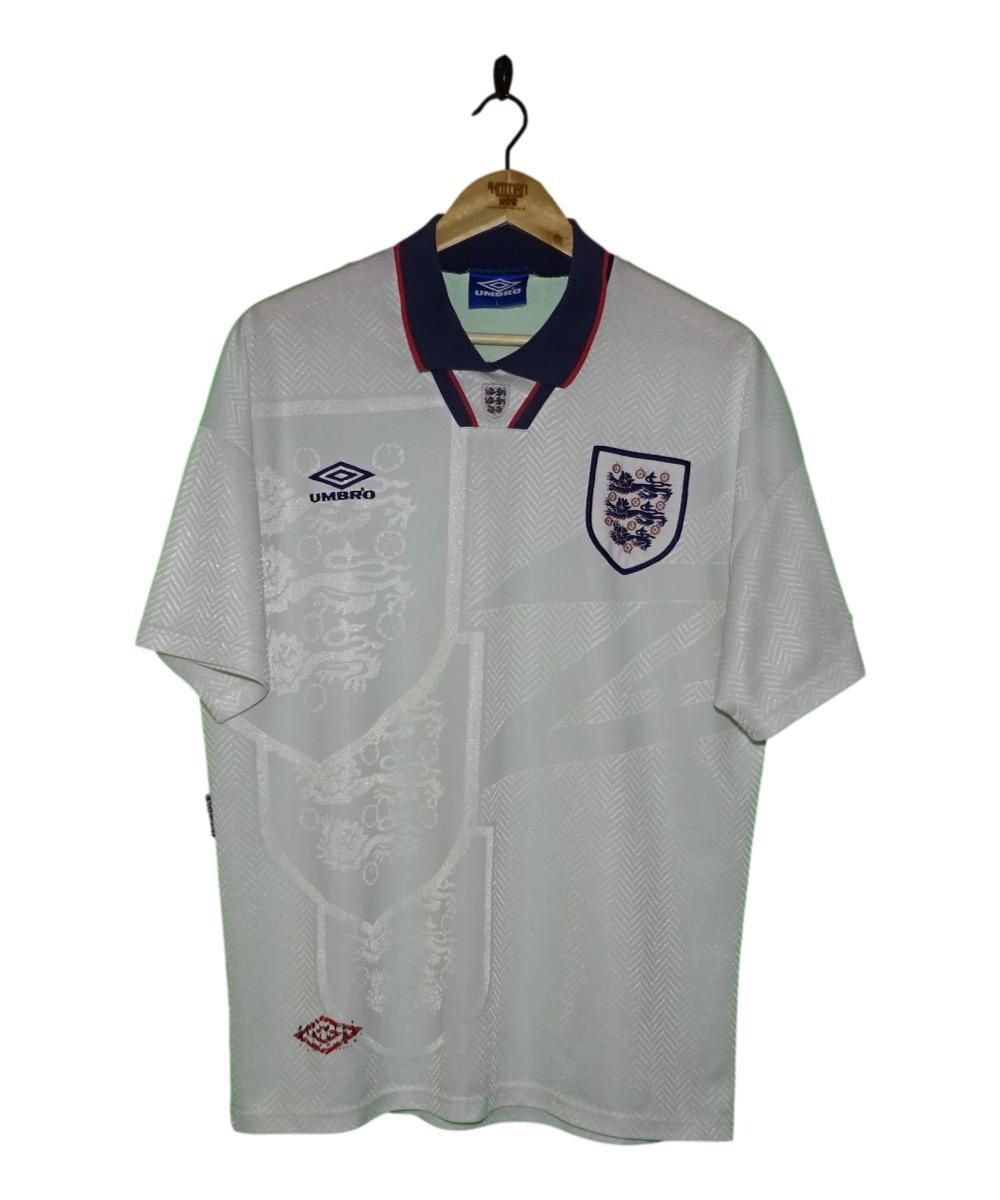 Checkout this 1993-94 England Home Shirt (L)!  Buy Now at    Free UK P&P!   #1993-94 #England #ThreeLions #Umbro #TheKitman