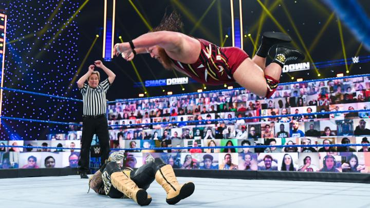 From @BiancaBelairWWE's #WrESTleMania decision to @WWECesaro's EPIC #CesaroSwing to @WWERollins, here are the top 10 moments from #SmackDown!