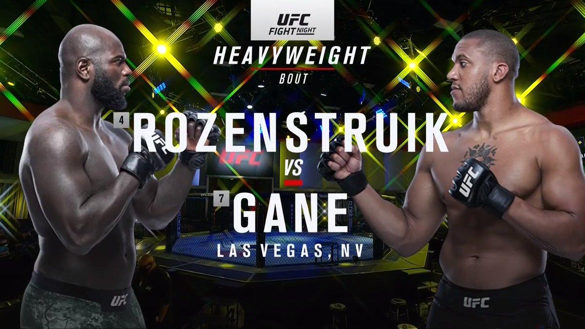 BEKIJK DE GEVECHTEN VAN UFC: ROZENSTRUIK VS. GANE  #UFCVegas20