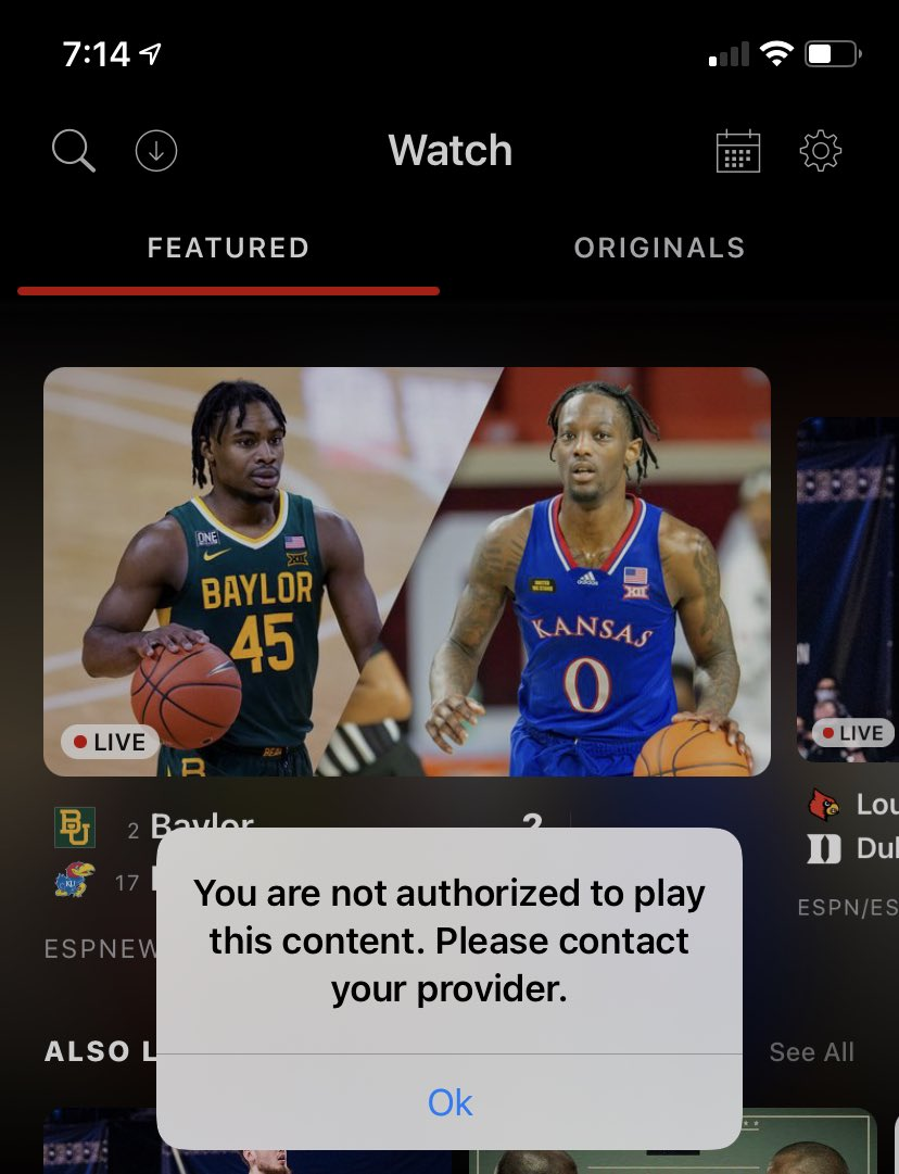 I pay for @espn + and I'm logged in with my TV provider and I'm not allowed to watch this. #ESPNPlus #RCJH https://t.co/nsPk5tbF0o