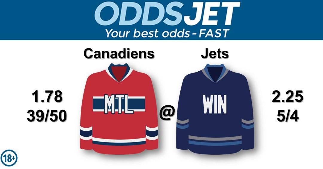 #NHL, #HockeyIsBack,   #Canadiens, #GoHabsGo, #MontrealCanadiens, vs. #WPGJets, #NHLJets, #WinnipegJets, #GOJetsGO, Get your best odds - fast at