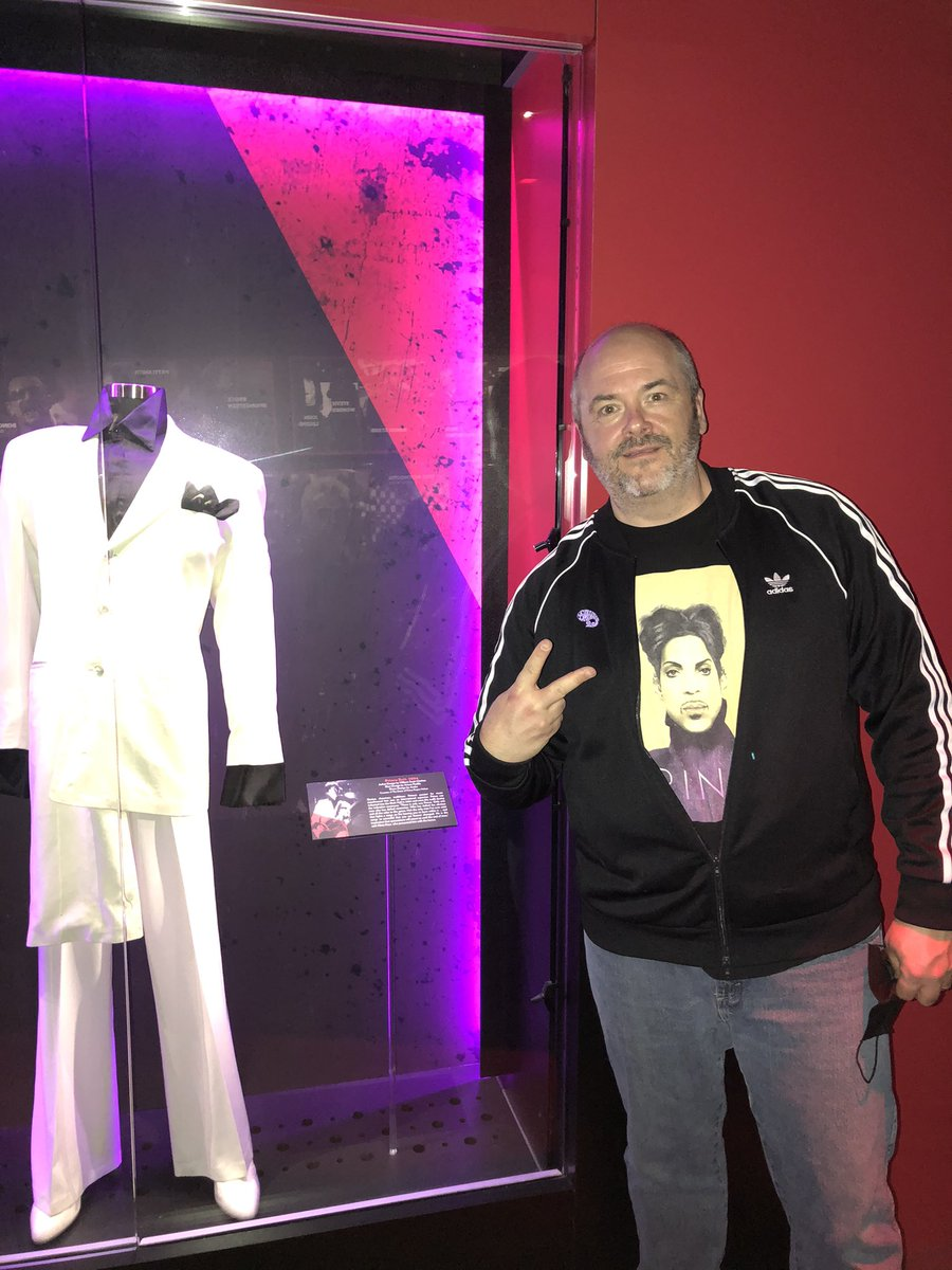 Gr8 visit to the @rockhall 2day. Glad 2 C @prince @PaisleyPark so well represented