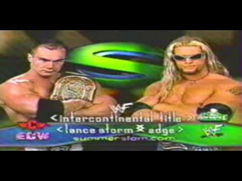 @WWEonFOX @WWE @LanceStorm vs. @EdgeRatedR from SummerSlam 2001. This match is so criminally underrated and it's a personal favorite of mine! I remember @FightOwensFight mentioning this match before and it made me happy cause I've heard so few people discuss it and it's fantastic!