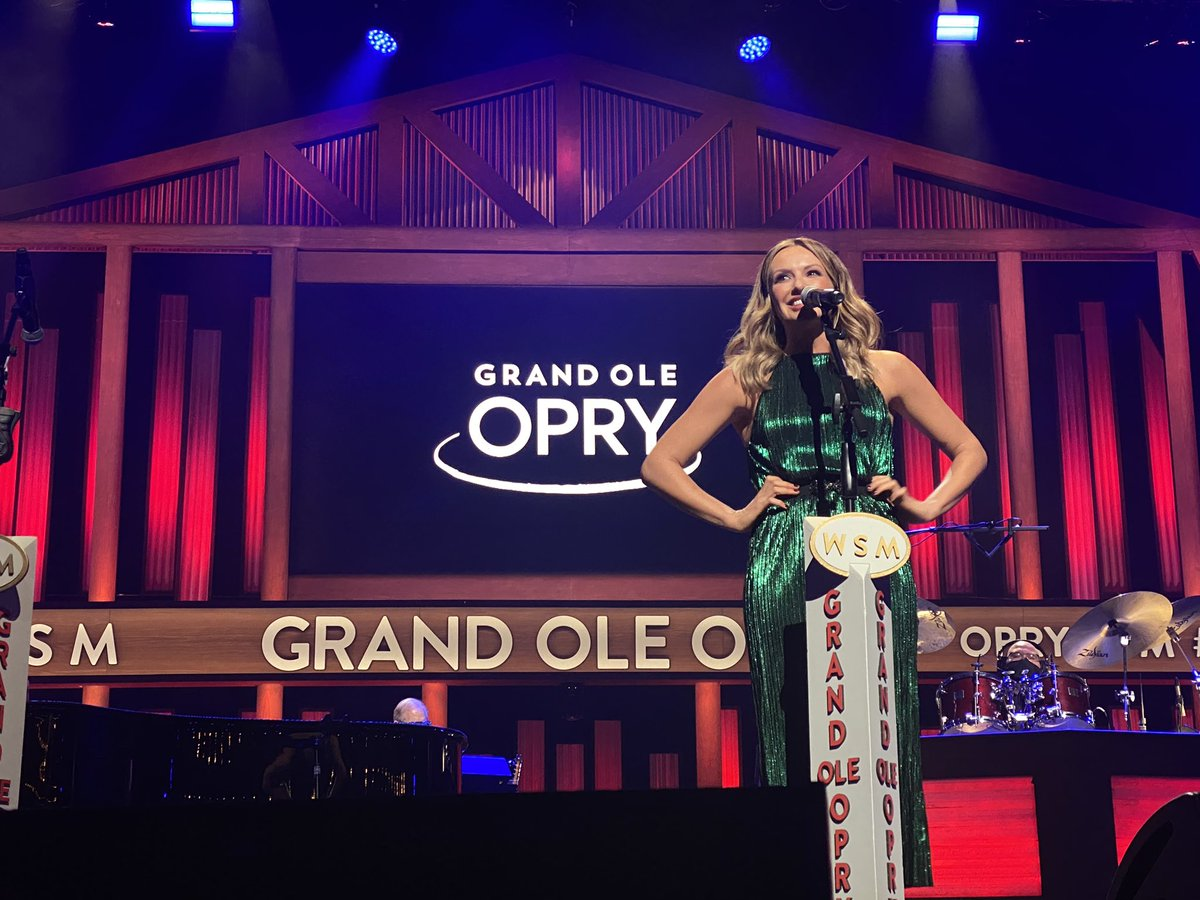 """How it feels to debut """"29"""" on the Opry stage during your 80th performance!"""