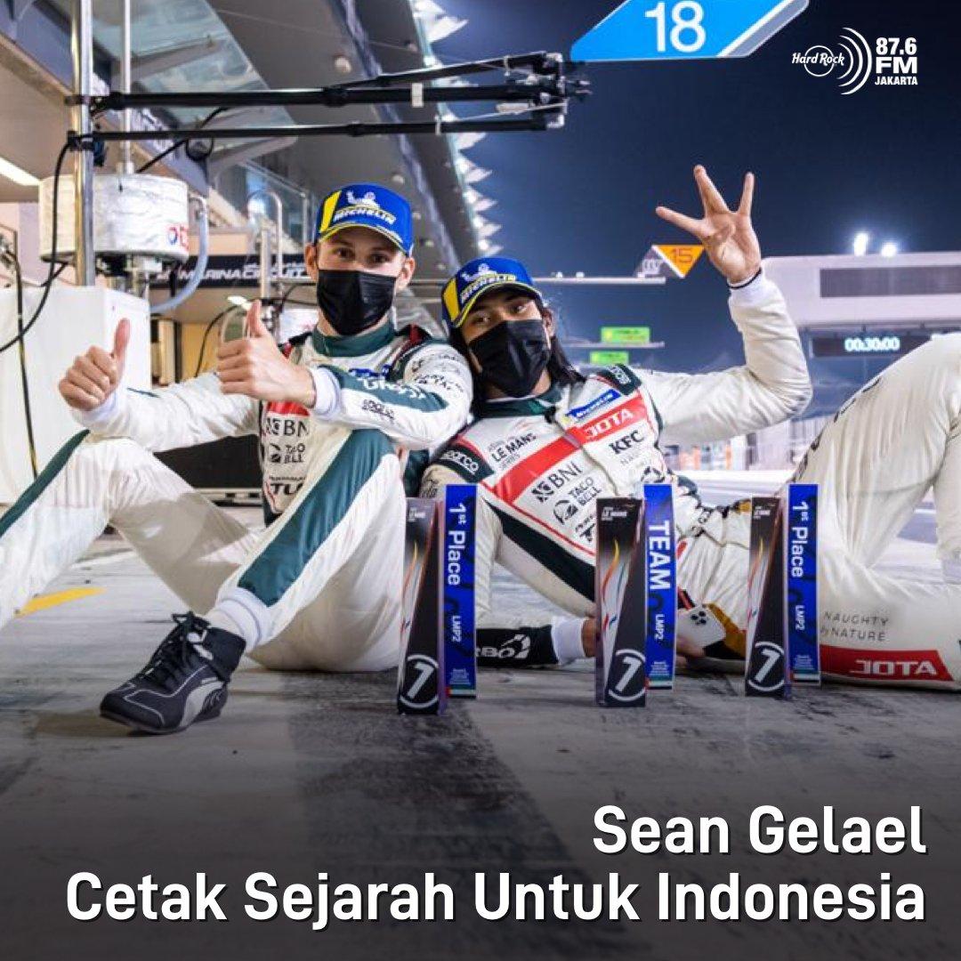 Verified #HRFMNews Woohoo! Sean Gelael berhasil membawa dua kemenangan di ajang Asian Le Mans di Dubai dan Abu Dhabi pekan lalu.  Kemenangan ini akan menjadi modal baginya untuk mengikuti FIA World Endurance Championship (WEC) di Portugal dengan mengusung bendera tim JOTA.