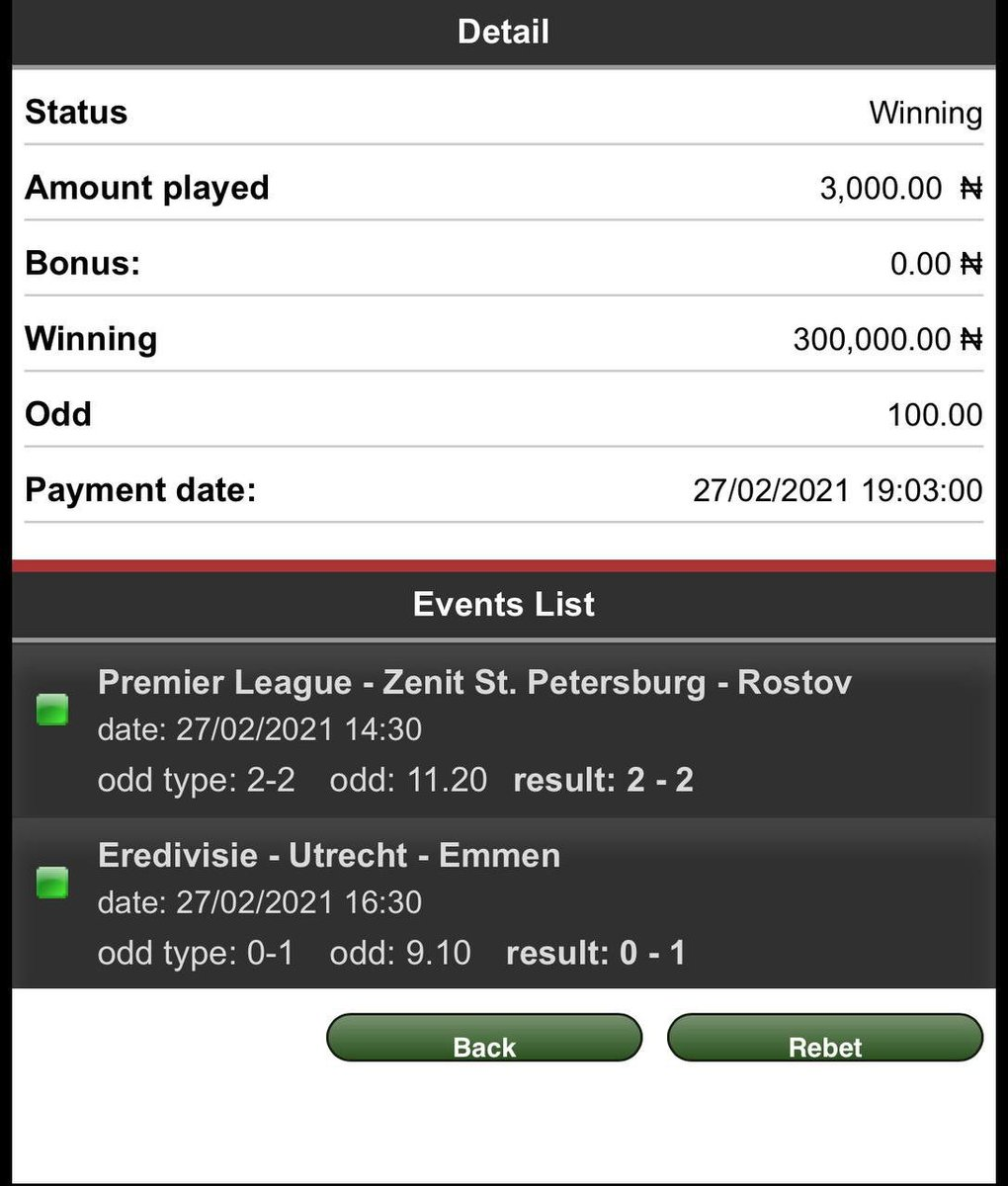 @Green_fixed1 Back to back winning with @Green_fixed1 thanks a lot for yesterday game, am enjoying this your VIP package.  #wednesdaythought #wedomorewednesdays #cryptocurrency #WednesdayMotivation #NBAAllStar #Binance #EricaIsRawGold #COVID19 #79HoursMMPraise #COVID
