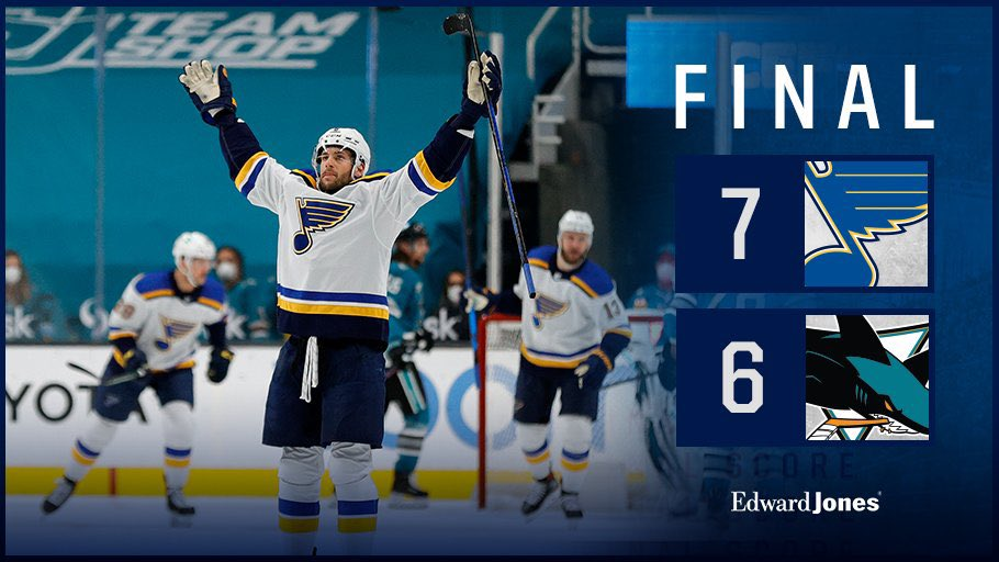 One of the craziest games I've ever seen! Let's Go Blues! #stlblues #nhl
