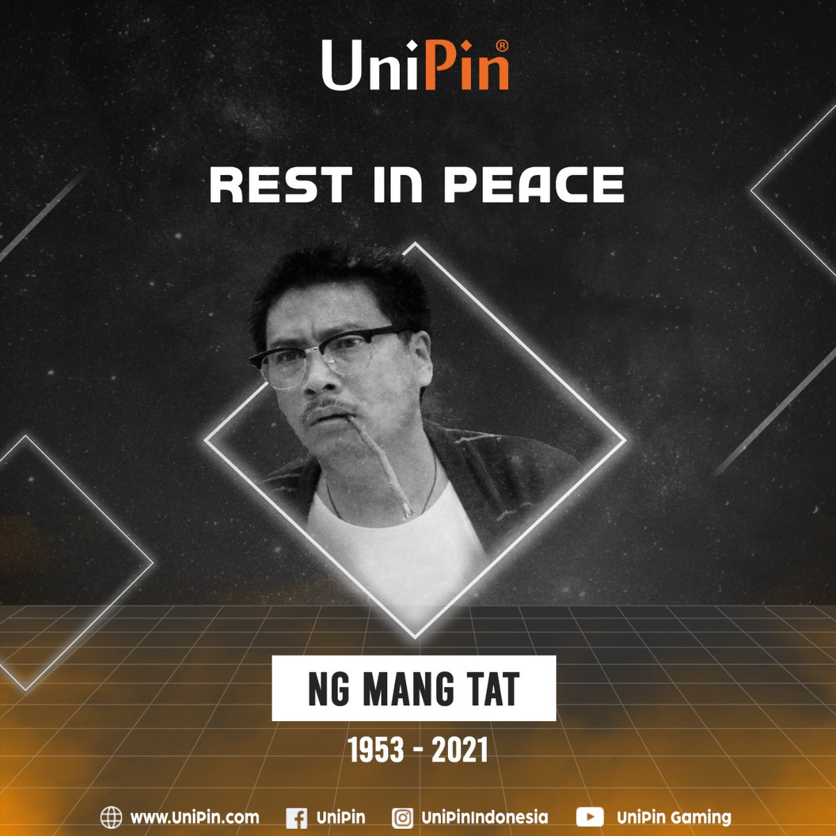 Dunia kembali berduka. Kabar duka datang dari aktor veteran Ng Mantat atau yang akrab di kenal sebagai Paman Boboho.  Selamat jalan Paman. Terimakasih sudah menghiasi layar tv & menemani hiburan kami dulu  #UniPin #ripngmantat #ngmantat #generasi90an