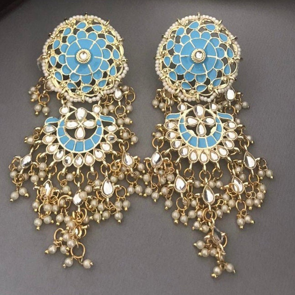"Thanks for the kind words! ★★★★★ ""Love it! Exactly like picture! 🙏😍"" Nabiha  #etsy #no #tragus #victorian #clipon #gold #blue #girls #pearl #southwestern"