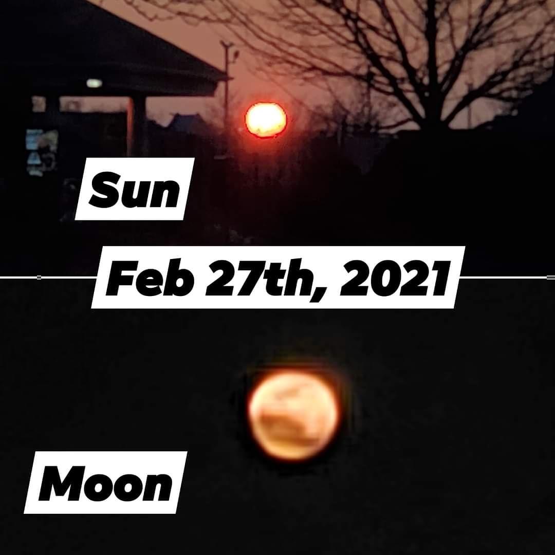 Beautiful! #moon #sunset #2021 #wolfmoon #SnowMoon2021 #SnowMoon #beautiful bu