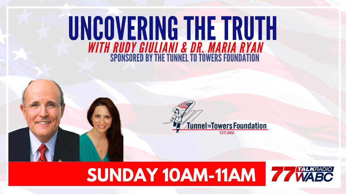 Coming up at 10AM Uncovering The Truth with @RudyGiuliani and @MariaRyanNH. Streaming worldwide on WABCradio.com