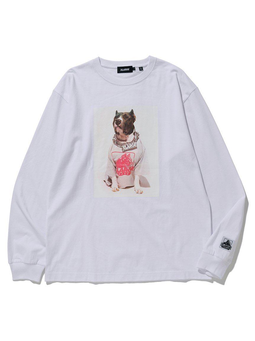 【#XLARGE】完売間近!  かなり評判良いですが、再入荷の予定はありませんので気になっていた方はお早めにどうぞ!  (WH)L・XL (BK)XLのみ  ¥6,000+税  #エクストララージ #ロンt #ピットブル #Dog #宮崎県 #日南 【正規取扱店】