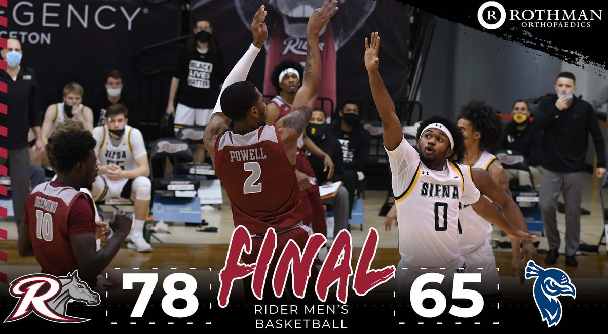 BRONCS WIN! Allen Powell hit 7-of-8 three-point attempts and scored a career-high 25 points to lead the Broncs to the road win. Final score presented by @RothmanOrtho #GoBroncs #MAACHoops