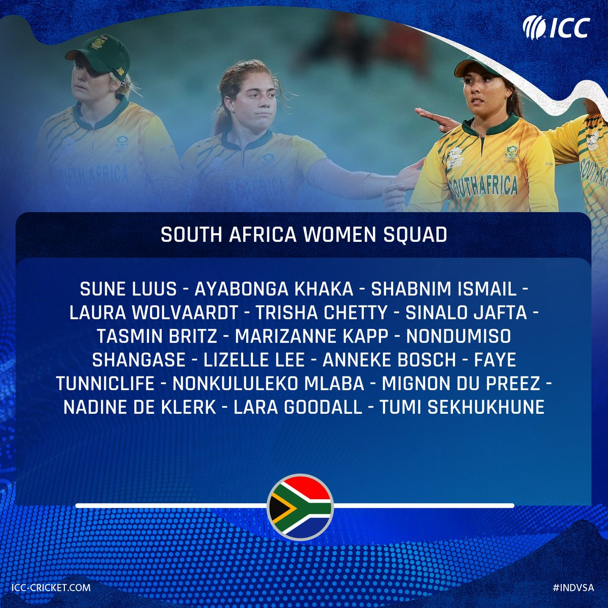 """🔸 Injured Tryon, van Niekerk miss out 🔸 Klaas sidelined after """"eleventh-hour injury""""  South Africa have named a 17-member squad for the limited-overs series against India.   #INDvSA"""