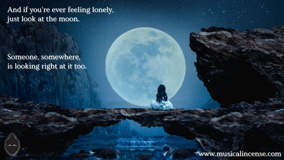 And if you're ever feeling lonely, just look at the moon.. Someone, somewhere is looking right at it too. #thoughts #life #quotes #photooftheday #quoteoftheday #motivational #inspirationalquotes #inspiration #follow #smallworld #moonlight #moonlovers #lonelyquotes #neverfeelalone