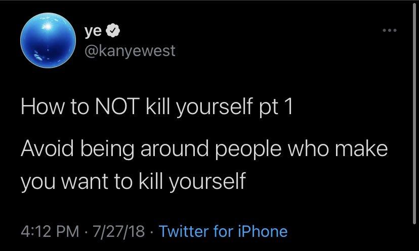 Replying to @igotbackpain: kanye west saved my life