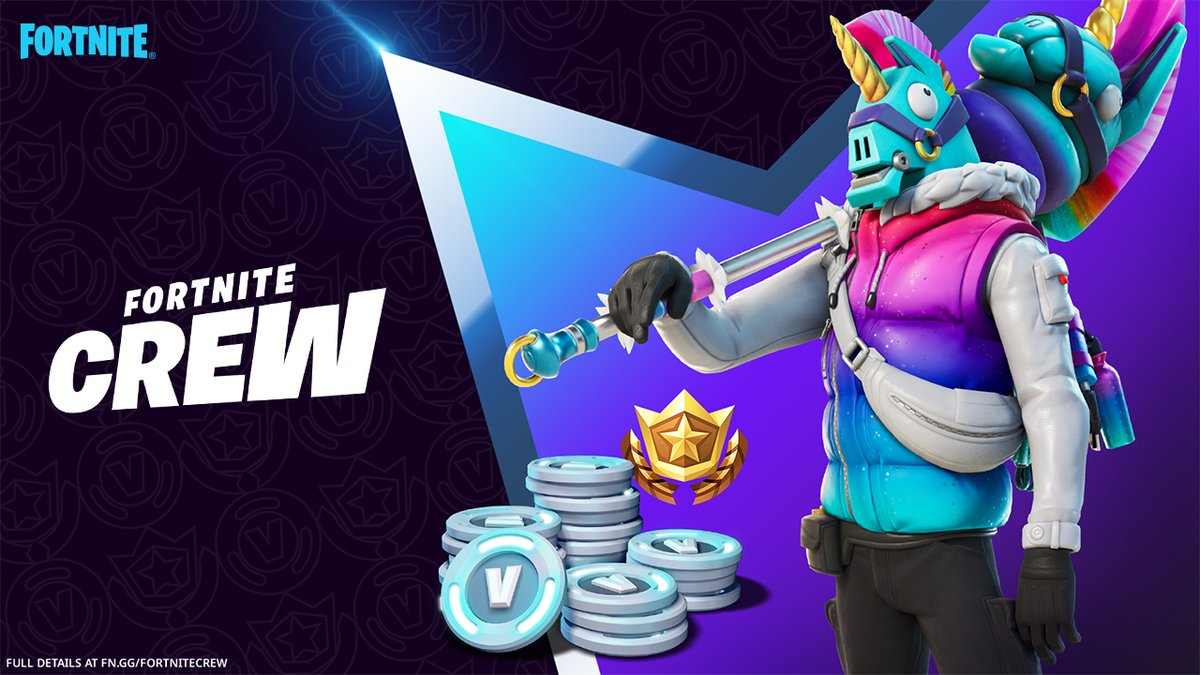 Puffed up and prismatic, the Llegend has arrived.   Fortnite Crew members, grab the exclusive March Crew Pack available now!