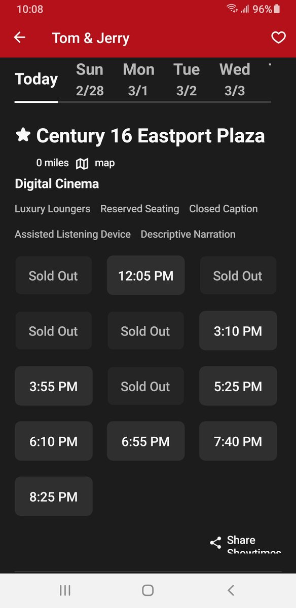 5 sold out showtimes in advance the day the movie theater opened back up here. This bodes well for the future.  #CNK $CNK #AMC $AMC #wallstreetbets #stocks #StocksToWatch #Investment
