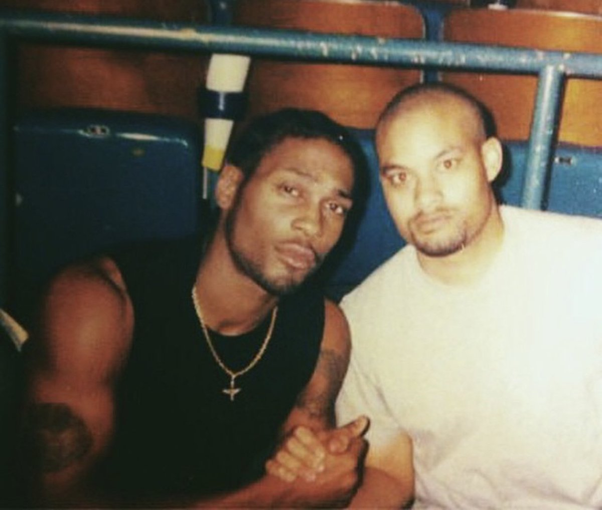 Me and the good brother Michael Archer during soundcheck at the Bronco Bowl in Dallas on the Voodoo Tour. Youth and young manhood in the flesh. #VERZUZ