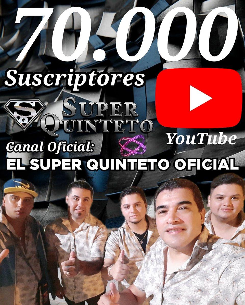 Si 70.000 Suscriptores En Nuestro Canal De EL SUPER QUINTETO OFICIAL... Graciaaaaas #el_super_quinteto #elsuperquinteto #SuperQuinteto #super_quinteto #FabianaPazProducciones #Fabiana_Paz_Producciones #Leo_Lacroix #LeoLacroix #Magenta #redessociales #Argentina #YouTuber #youtube