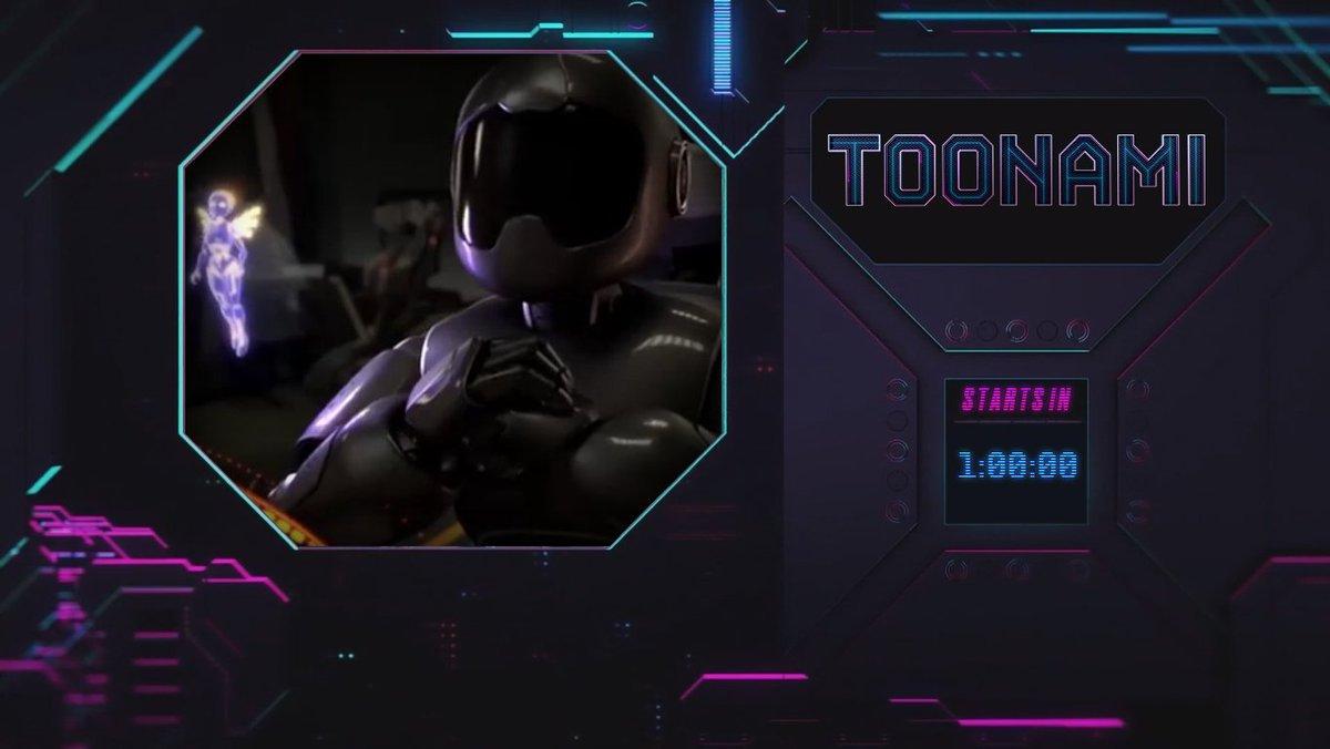The countdown begins. 1 hour until #Toonami. Get ready.