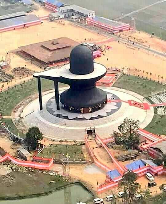 World's largest shiva lingam shaped temple completed in Assam's Nagaon.  Har Har Mahadev 🙏🚩